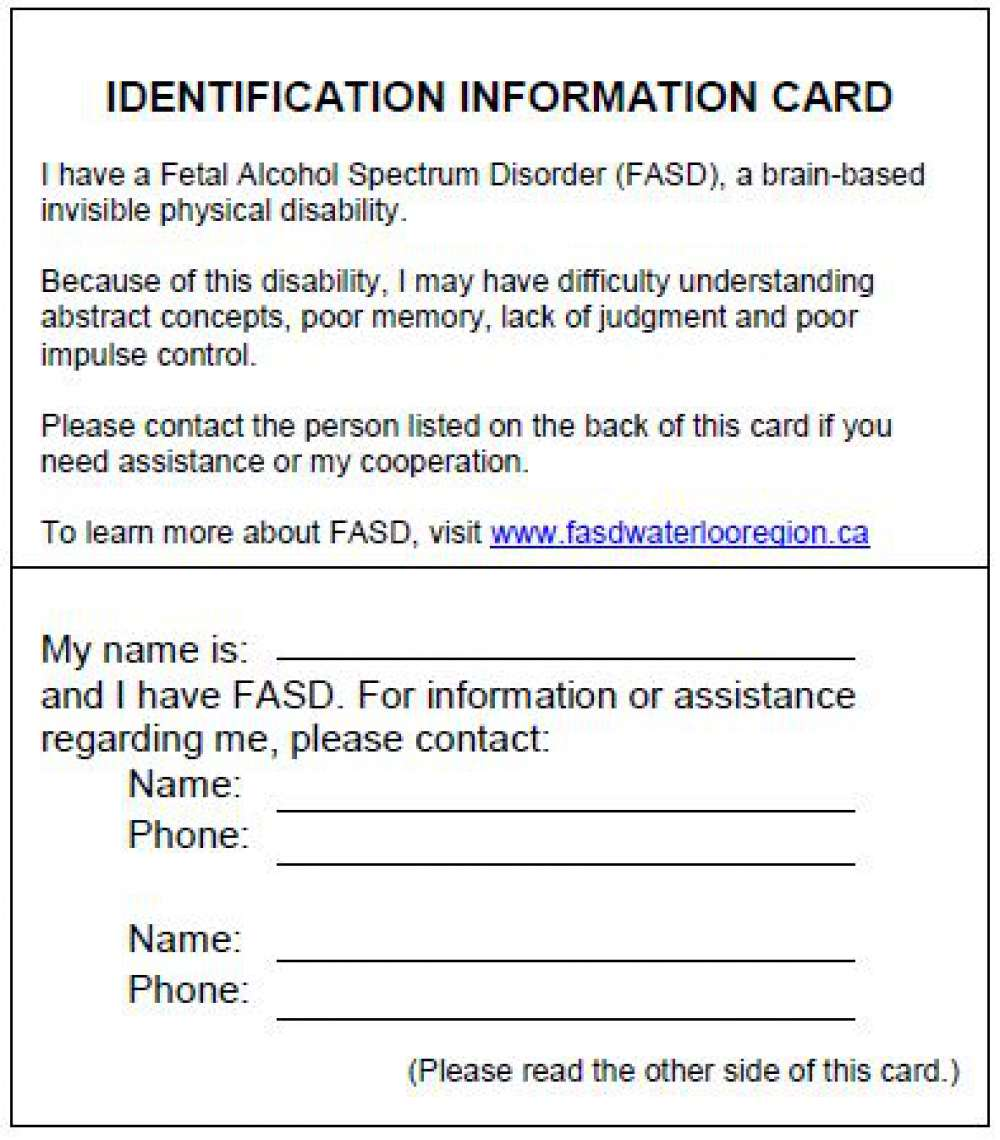 Disorder Identity Information Spectrum Cards Fetal Alcohol
